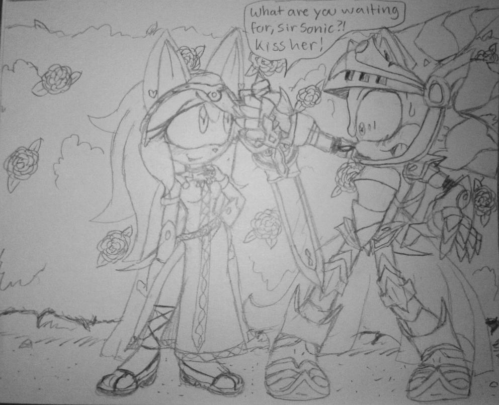 The Line Art Challenge : Otp challenge sonar princess w knight by on