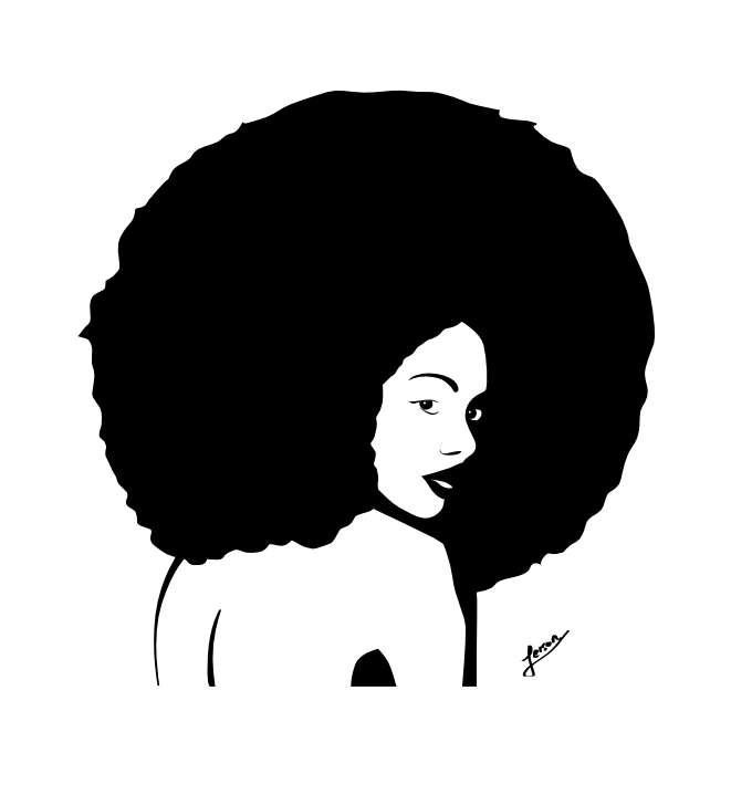 Black Girl Natural Hair Drawings