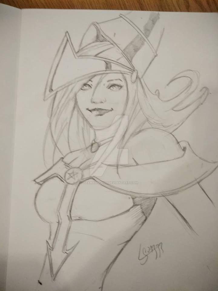 Dark Magician sketch by TeamAmazing