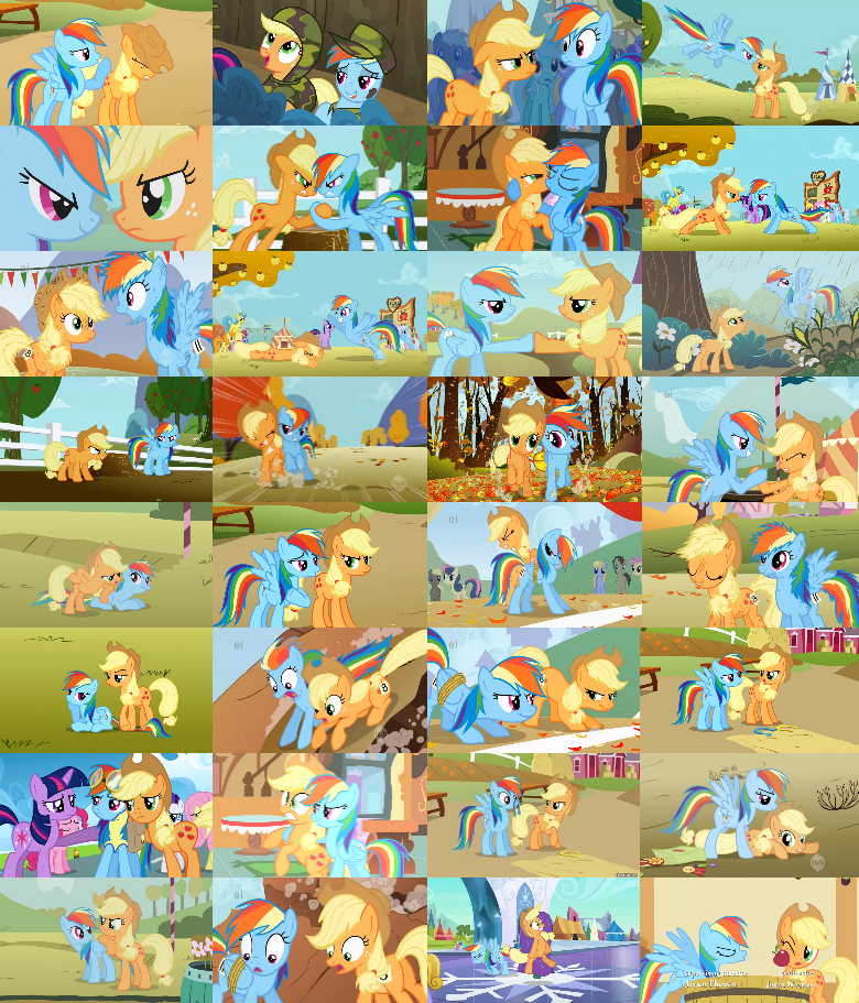 AppleDash Collage by The-Queen-Of-Cookies