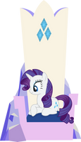 Rarity Sitting In Her Throne [No Magic Version]