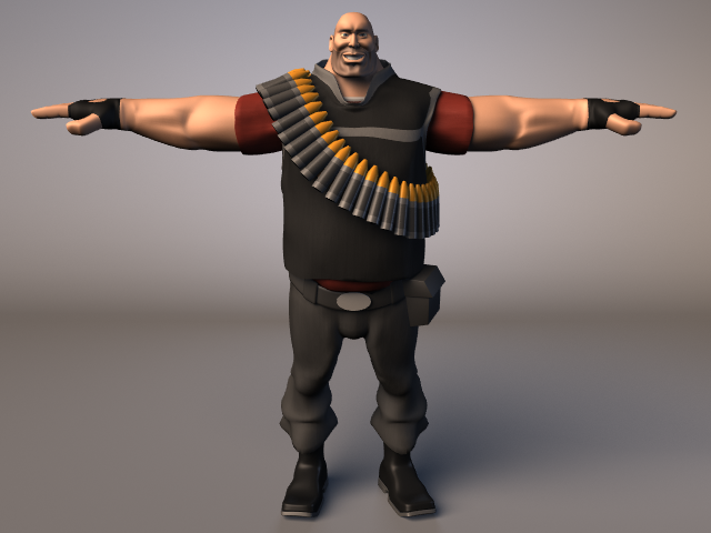 Team Fortress Heavy Color By Upsiloneexe On Deviantart