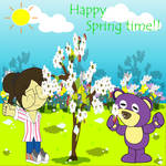 Mr.purple bear-Happy Spring time by Figaro-17