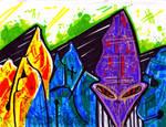 Skivvy graff purple alien