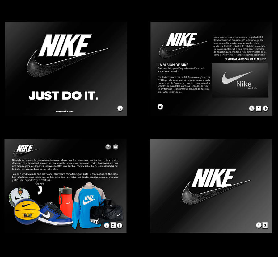 Brochure nike by 13 erika 13 on deviantart for Nike brochure design