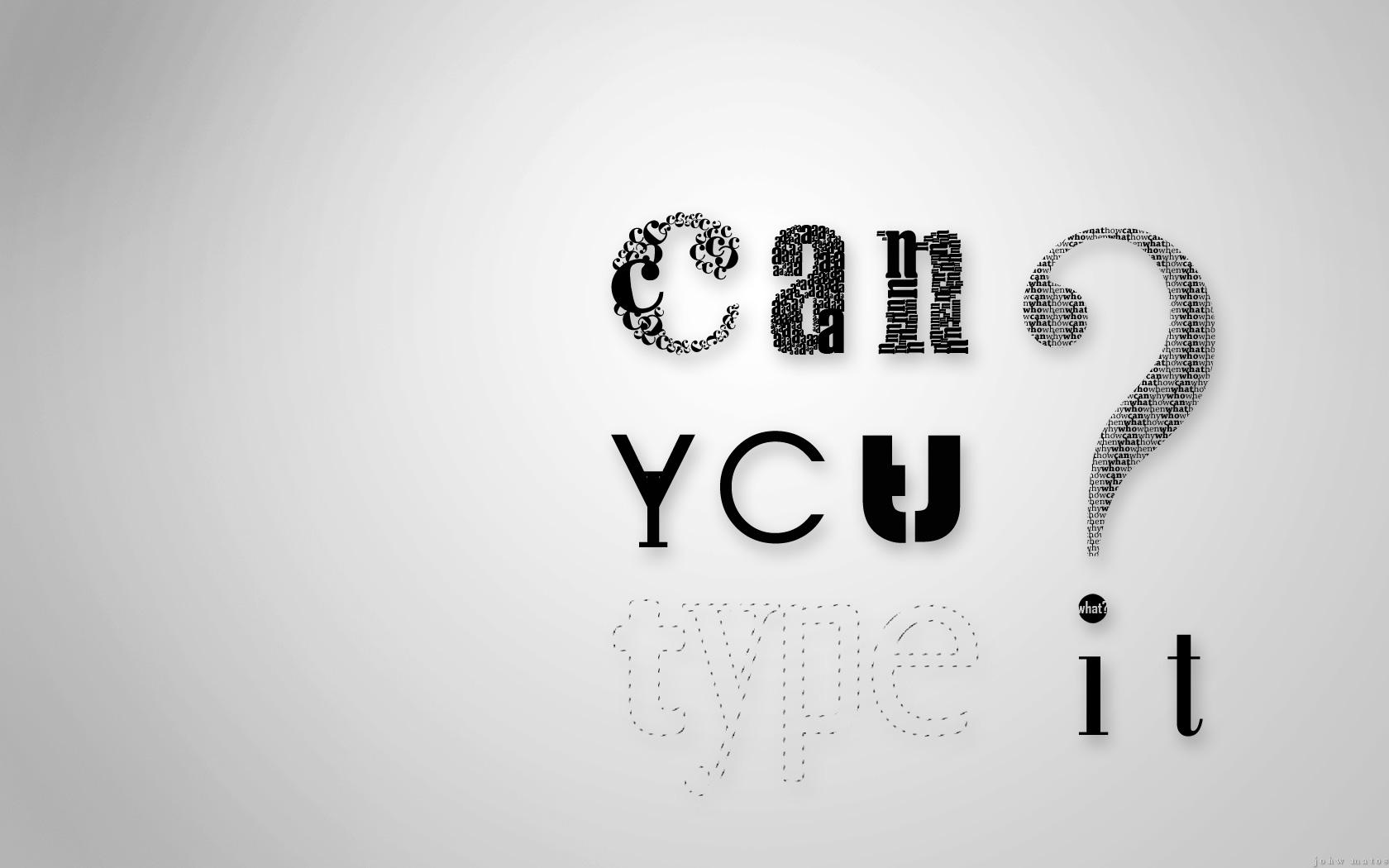 ������ typography art