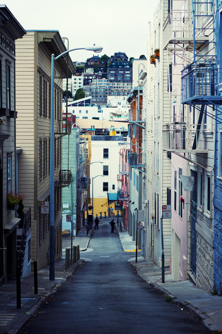 North Beach Alley by AKIRIE