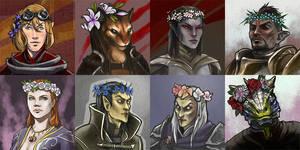 TES avatars set