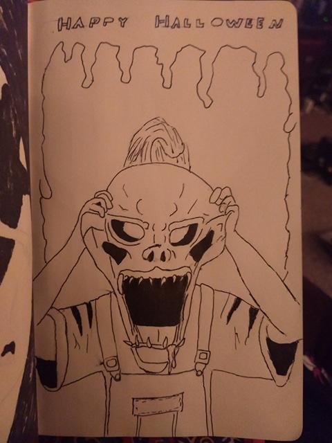 Inktober Day 31: Mask by demonbarber