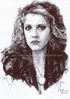 Stevie Nicks / Fleetwood Mac - Ink - Portrait by NateMichaels