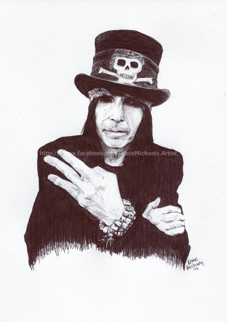 Mick Mars - Motley Crue - Pen and Ink Portrait by NateMichaels