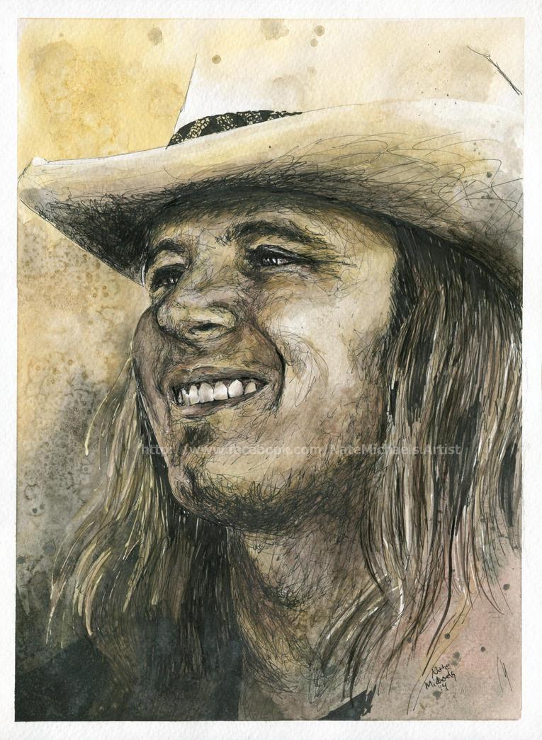 Ronnie Van Zant Lynyrd Skynyrd Portrait By