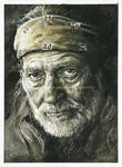 Willie Nelson - Watercolor and Ink - Portrait