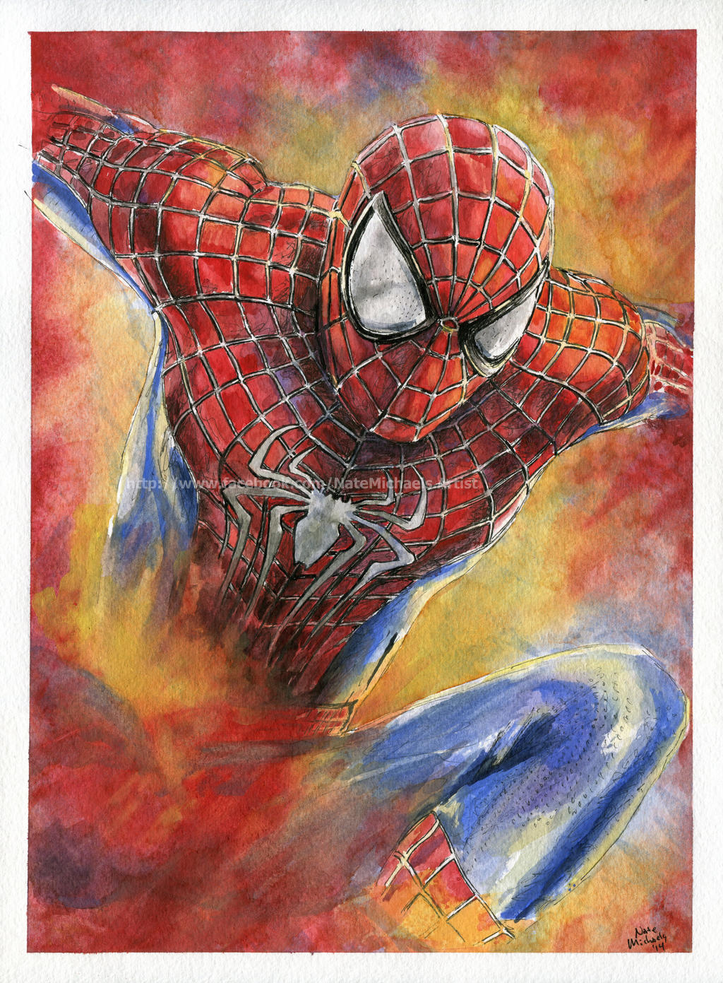 Spider-Man - Watercolor and Ink Painting by NateMichaels ...