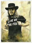 Ronnie Van Zant - Lynyrd Skynyrd - Portrait by NateMichaels