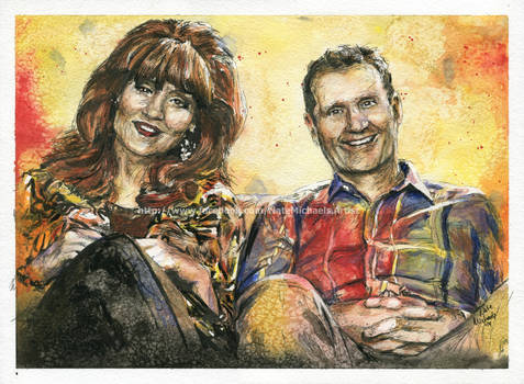 The Bundys - Watercolor Portrait