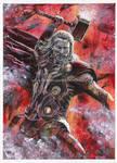 Thor - Mixed Media Portrait