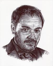 Crowley - Ink Portrait