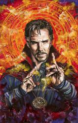 Doctor Strange - Mixed Media Painting