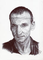 9th Doctor - Ink Portrait