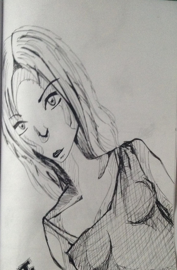 Comic style woman by JudytaDragon