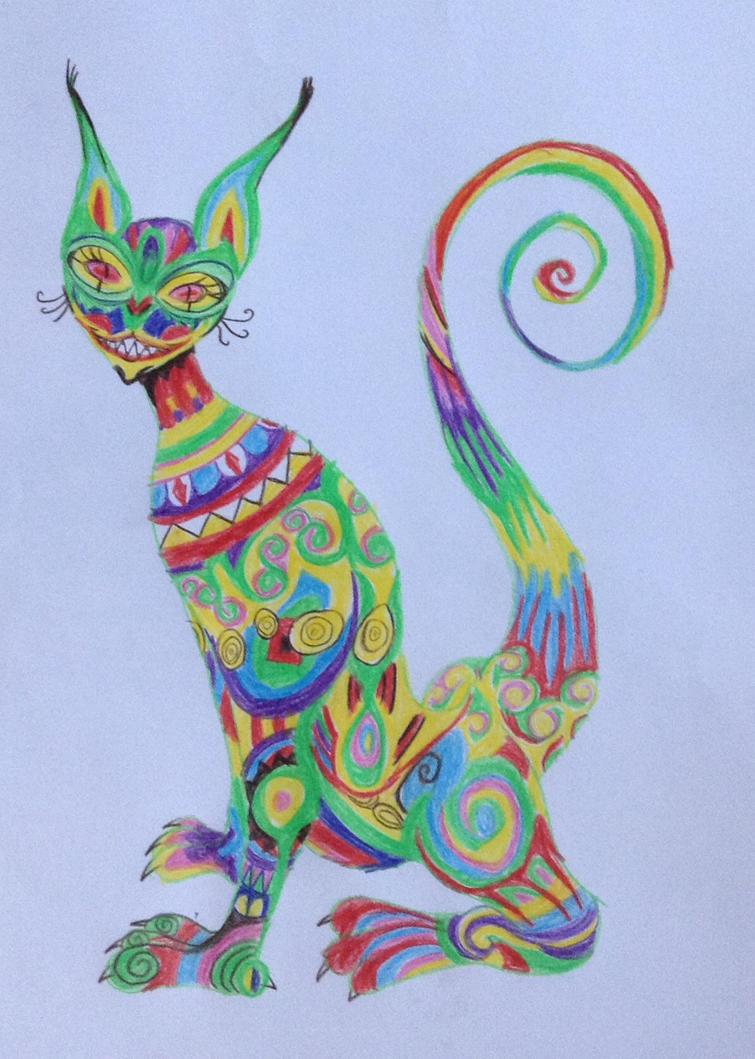 Psychodelic Cheshire Cat by JudytaDragon