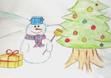 Snowman by HumanHunter