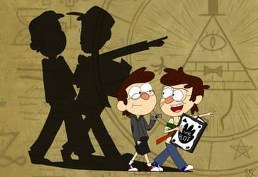 Gravity Falls/Nostalgia Critic: Look ahead! by 8bitcookies