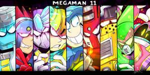 Megaman 11 by Ready4Bonnie