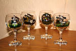 Easter Wine Glasses by Bonniemarie