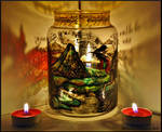 The Lonely Mountain Candle Holder
