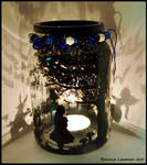 Alice In Wonderland Jar by BonnieLeeman