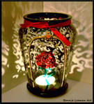 Rose Swirl Candle Holder