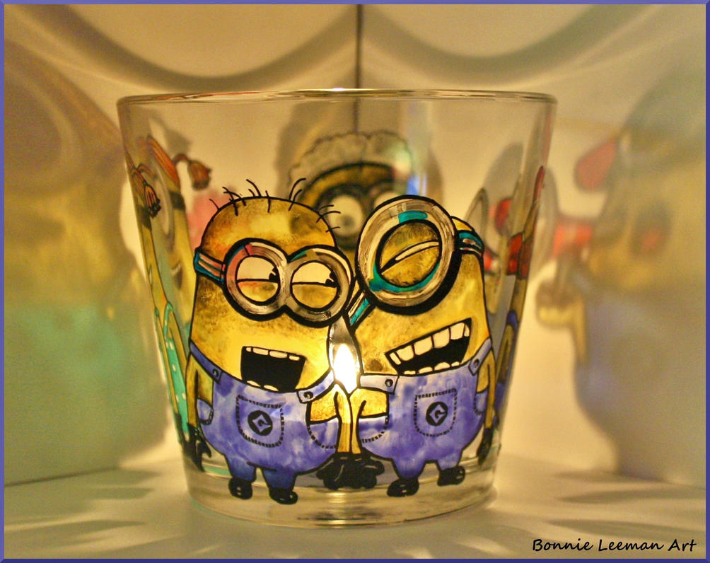 Minion Candle Holder by Bonniemarie