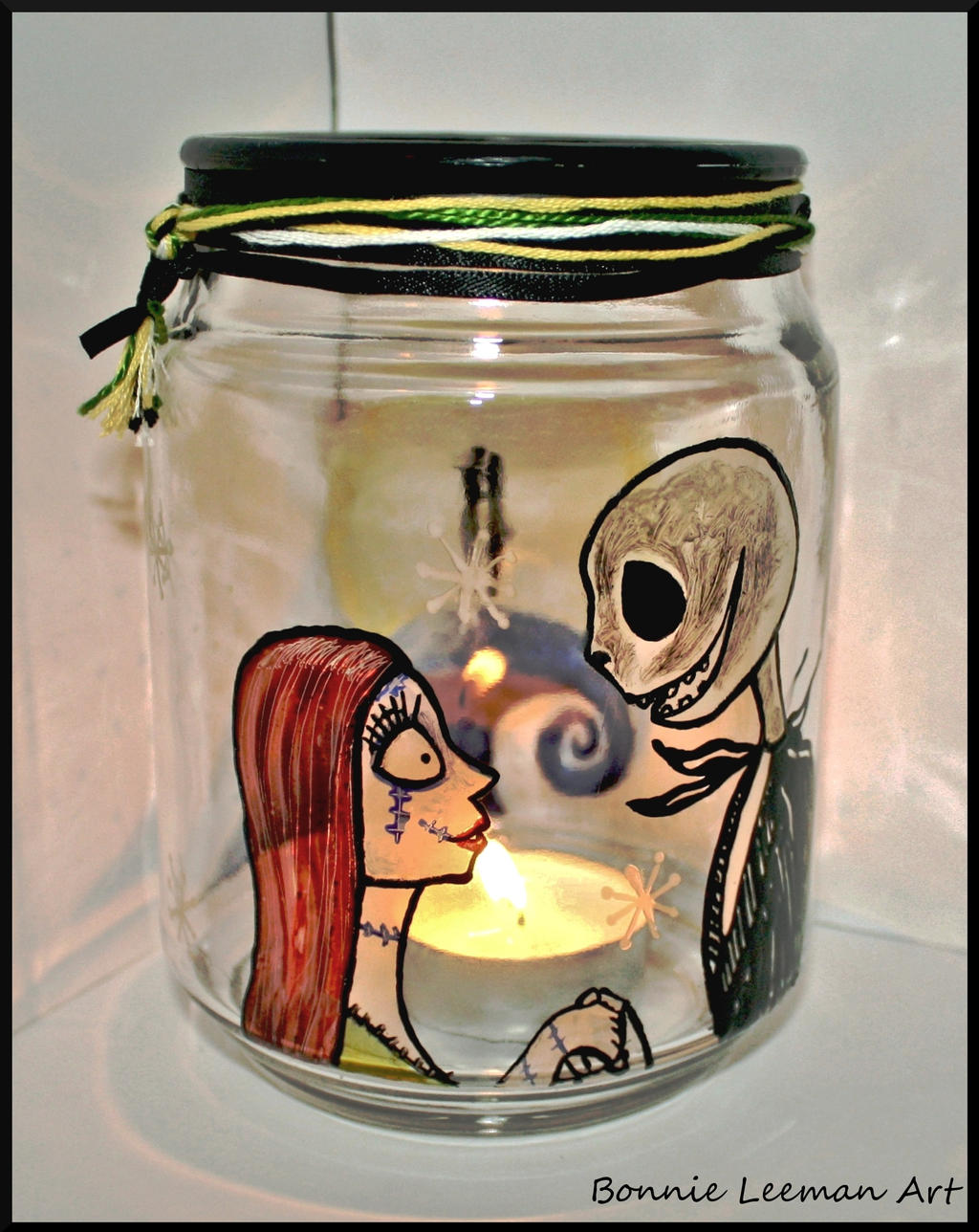 Jack and Sally Candle Jar by Bonniemarie
