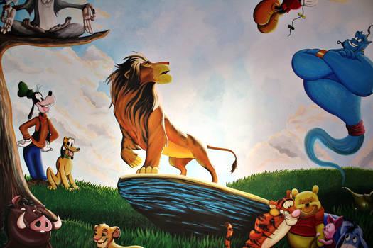 Disney Mural Detail