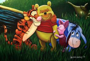 Winnie The Pooh Mural Painting