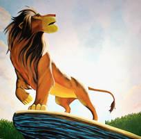 Simba Mural Painting