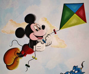 Mickey Mouse Mural Painting