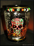 Day of The Dead Sugar Skull Candle Holder