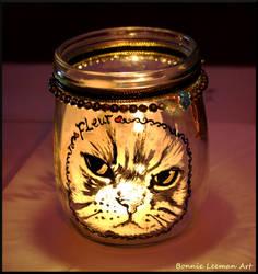 Cat Candle Jar