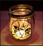 Cat Candle Jar by BonnieLeeman