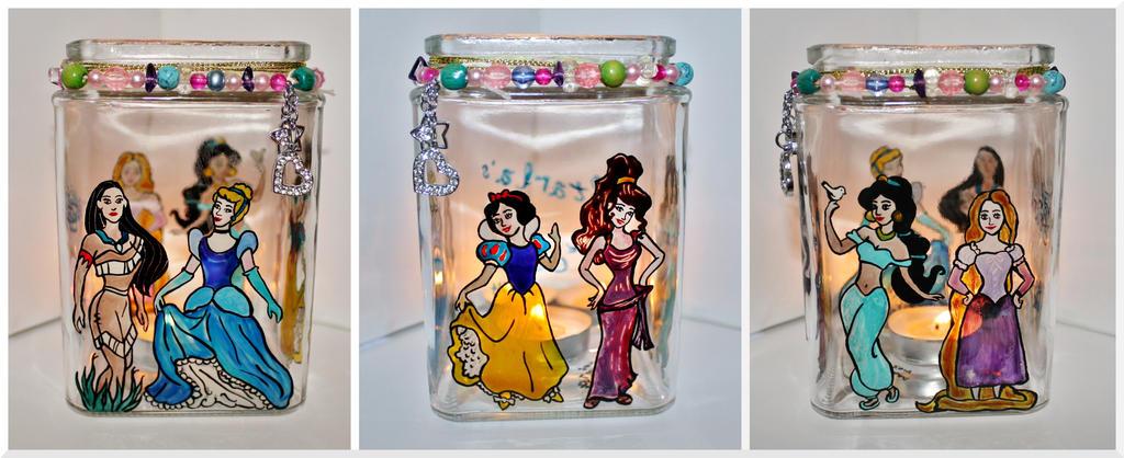 Disney Princesses Candle Jar 2 by Bonniemarie