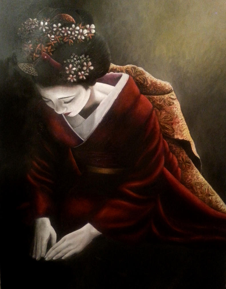 Geisha painting unfinished but what do you think by Bonniemarie