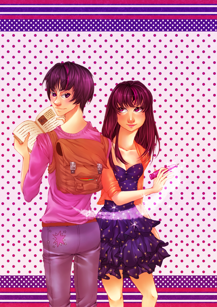 male + female Twilight Sparkle by junpun
