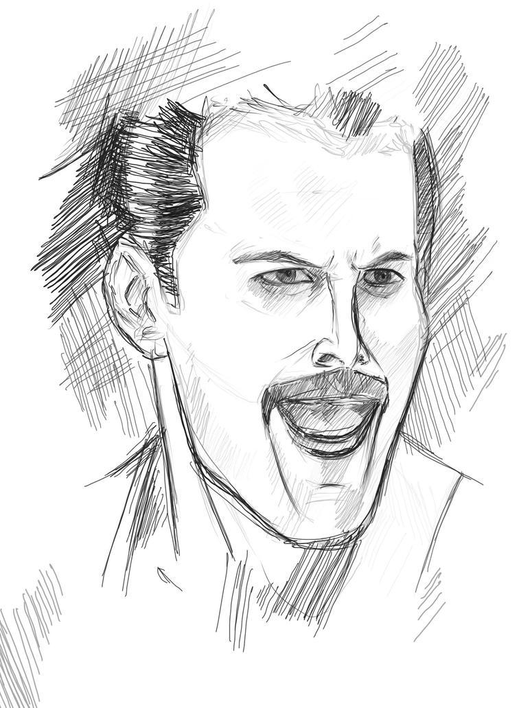 Freddie Mercury - Digital Portrait Practice by Axel2396