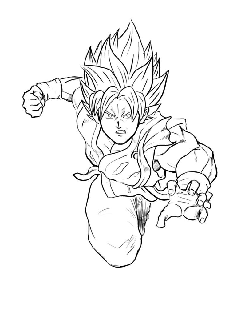Goku SSGSS Time-lapse by Axel2396