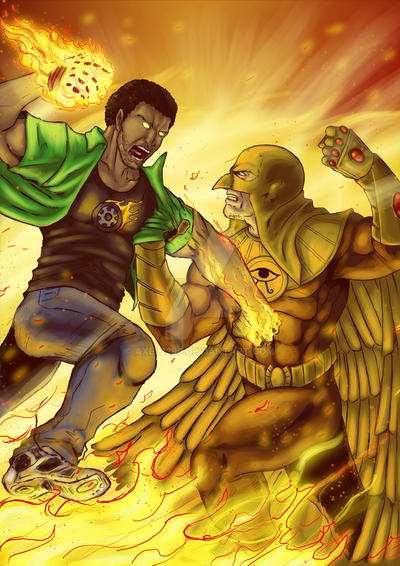 Horus VS Microbusgy by Axel2396