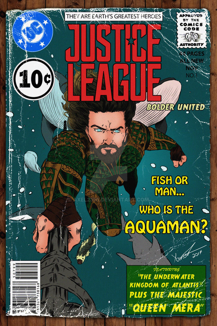 Justice League Movie: The Aquaman - Vintage Cover by Axel2396