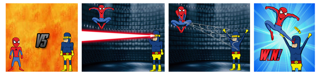 Spiderman vs Cyclops by Toree182